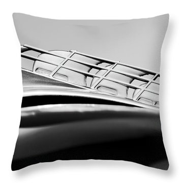 1946 Plymouth Hood Ornament 2 Throw Pillow by Jill Reger