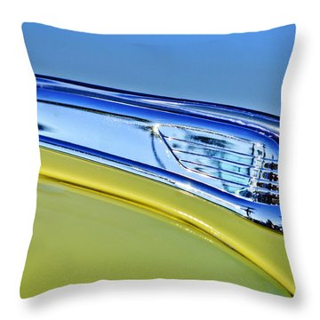1947 Ford Super Deluxe Hood Ornament 2 Throw Pillow by Jill Reger