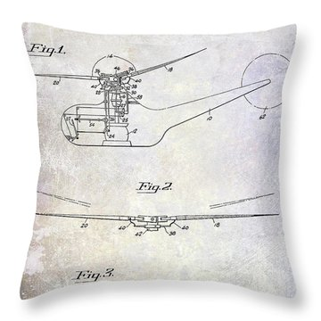 1947 Helicopter Patent Throw Pillow