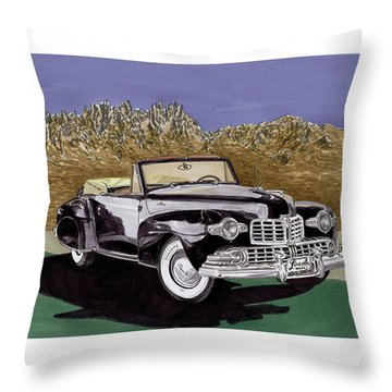 1947 Lincoln Continental Mk I Throw Pillow by Jack Pumphrey