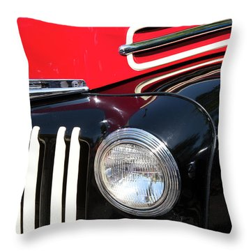Throw Pillow featuring the photograph 1947 Vintage Ford Pickup Truck by Theresa Tahara
