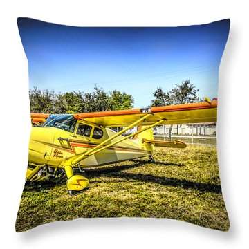 1947 Yellow Stinson Throw Pillow