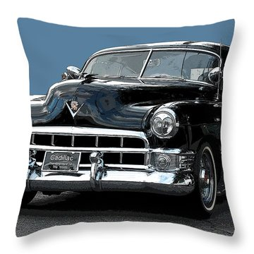 1948 Cadillac Fastback Throw Pillow