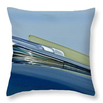1948 Chevrolet Fleetline Hood Ornament Throw Pillow by Jill Reger