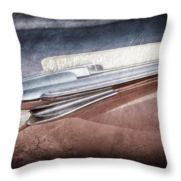 Throw Pillow featuring the photograph 1948 Chevrolet Hood Ornament -0587ac by Jill Reger