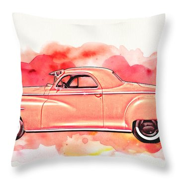 1948 Dodge Coupe As Seen In Luckenbach Texas By Vivachas Throw Pillow