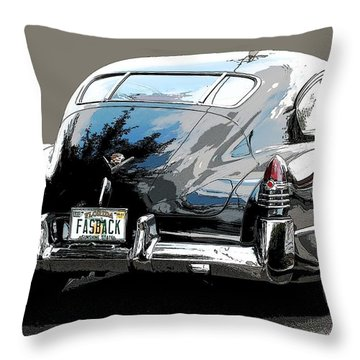 1948 Fastback Cadillac Throw Pillow