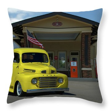 1948 Ford F1 Pickup Truck Throw Pillow