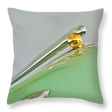 1948 Lincoln Continental Hood Ornament 4 Throw Pillow by Jill Reger