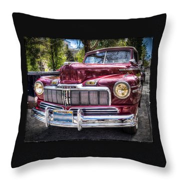 1948 Mercury Convertible Throw Pillow