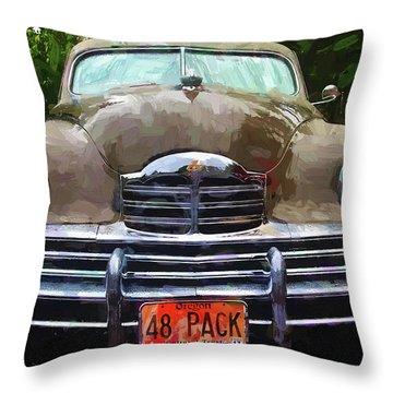 1948 Packard Super 8 Touring Sedan Throw Pillow