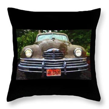 1948 Packard Super 8 Touring Sedan Throw Pillow