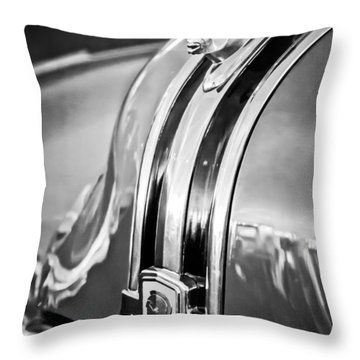 1948 Pontiac Chief Hood Ornament 4 Throw Pillow by Jill Reger