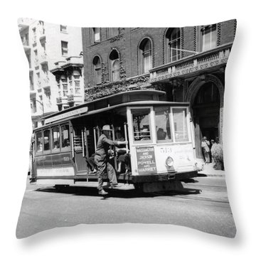 1948 San Francisco Cable Car 513 Throw Pillow