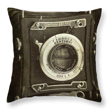 1949 Century Graphic Vintage Camera Throw Pillow