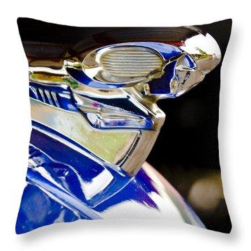 1949 Dodge Pickup Hood Ornament Throw Pillow by Jill Reger