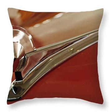 1949 Ford Custom Hood Ornament Throw Pillow by Jill Reger