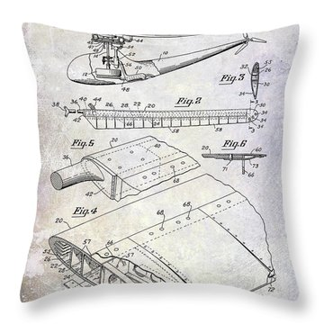 1949 Helicopter Patent Throw Pillow by Jon Neidert