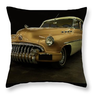 Throw Pillow featuring the photograph 1950 Buick Roadmaster by Chris Flees