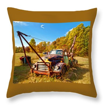 1950 Gmc Truck Throw Pillow