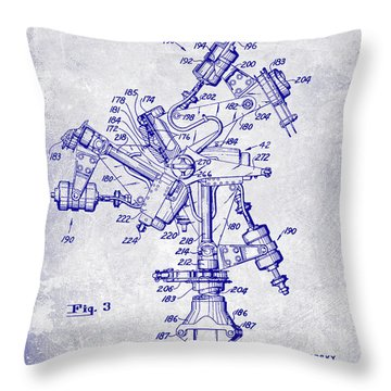 1950 Helicopter Patent Blueprint Throw Pillow