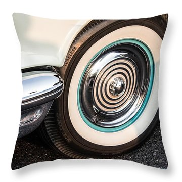 1950 Olds Whitewalls Throw Pillow by Nance Larson
