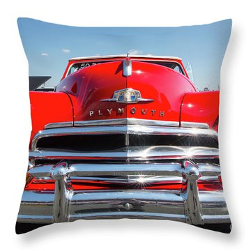 1950 Plymouth Automobile Throw Pillow