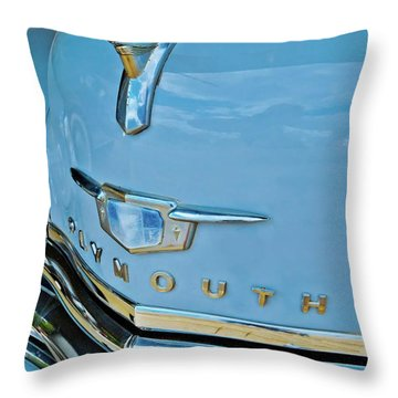 Throw Pillow featuring the photograph 1950 Plymouth Coupe by Linda Unger