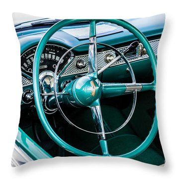 Throw Pillow featuring the photograph 1955 Chevrolet Bel Air by M G Whittingham