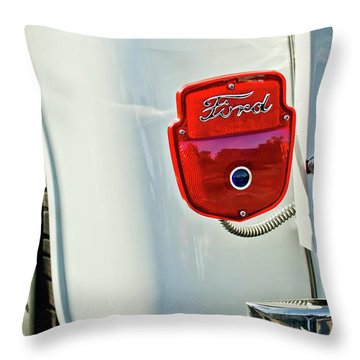 1950's Ford F-100 Pickup Truck Taillight Throw Pillow