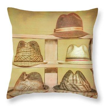 1950s Hats Throw Pillow