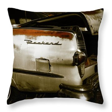Throw Pillow featuring the photograph 1950s Packard Trunk by Marilyn Hunt