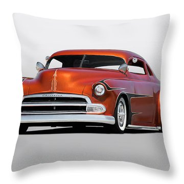 1951 Chevrolet Custom Coupe Throw Pillow by Dave Koontz