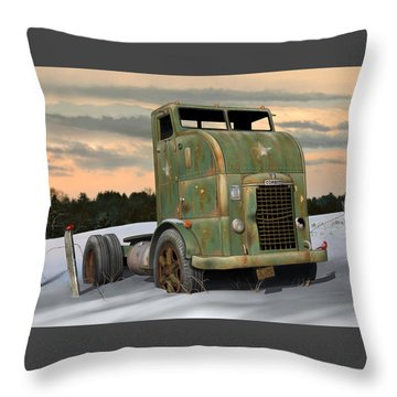 Throw Pillow featuring the digital art 1951 Corbitt by Stuart Swartz
