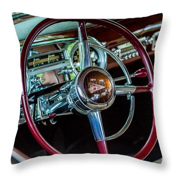 1951 Hudson Hornet Throw Pillow