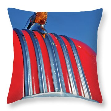 1951 Pontiac Chief Hood Ornament 2 Throw Pillow by Jill Reger