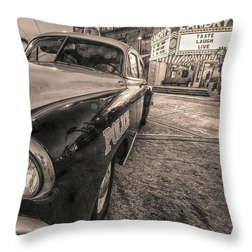 1952 Chevy Black And White Throw Pillow by Kathy Adams Clark