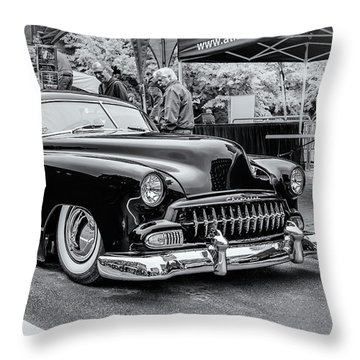 1951 Chevy Kustomized  Throw Pillow by Ken Morris
