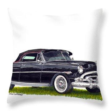 1952 Hudson Hornet Convertible Throw Pillow by Jack Pumphrey