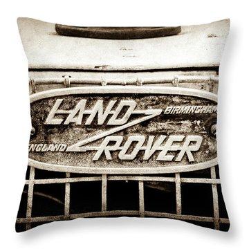 1952 Land Rover 80 Grille  Emblem -0988s2 Throw Pillow