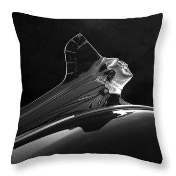 1952 Pontiac Catalina Chieftan Lighted Hood Ornament 3 Throw Pillow
