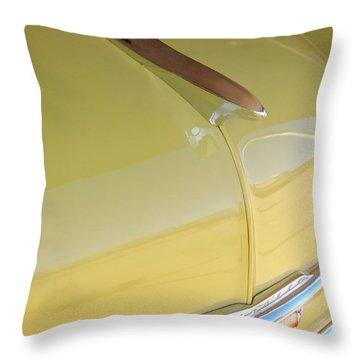 1953 Chevrolet Bel Air Hood Ornament Throw Pillow by Jill Reger
