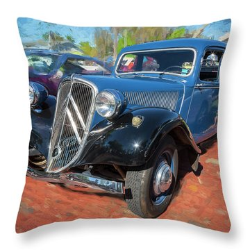 1953 Citroen Traction Avant Throw Pillow by Rich Franco