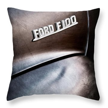1953 Ford F-100 Pickup Truck Emblem -0367ac Throw Pillow