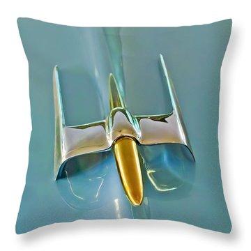 1953 Lincoln Capri Hood Ornament Throw Pillow by Jill Reger