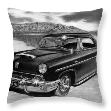 1953 Mercury Monterey On Bonneville Throw Pillow by Peter Piatt
