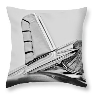 1953 Pontiac Hood Ornament 2 Throw Pillow by Jill Reger