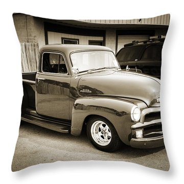 1954 Chevrolet Pickup Classic Car Photograph 6736.01 Throw Pillow
