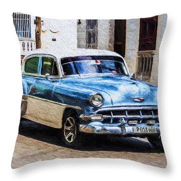 1954 Chevy Cuba Throw Pillow