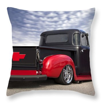 1954 Chevy Truck Lowrider Throw Pillow